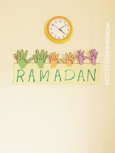 handprint ramadan calendar for kids wordsnneedles