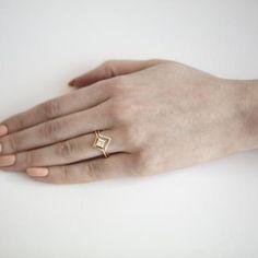 Nestled Princess Cut Diamond Ring