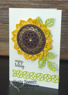 How to make a Sunflower with the Eastern Palace bundle