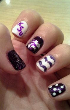 KSU nails for game day!!!! #EMAW #KSU #KState not for posers who wore crimson and blue last year!!!!