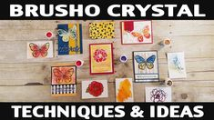 Stamping Jill - Brusho Crystal Techniques & Ideas - YouTube