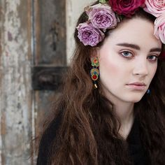 It's Friday....put on your floral crown and Dori's Happy earrings!   #DoriCsengeri #tgif #flowerhair #flowerhairaccessories #fashionaccessories #earrings #springcolors #springtrends