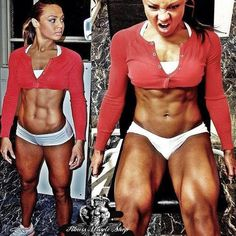 Crazy Quadzilla Lady; very nice. Great legs! #quads