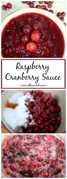 Raspberry Cranberry Sauce - If you are a raspberry lover, then you MUST try this Raspberry Cranberry sauce. I hated cranberry sauce until I tried this and am now hooked. My favorite!