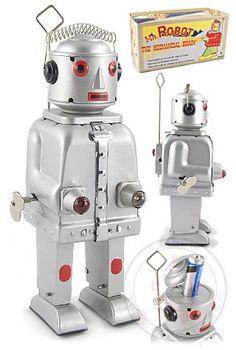 Buy Mr Robot Mechanical Brain Silver 1950 at TinToyArcade.com