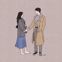 Cute Couple Drawings, Cute Couple Art, Cute Drawings, Chibi Couple, Couple Cartoon, Couple Illustration, Illustration Art, Illustrations, Cover Wattpad