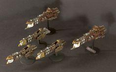 Zeus light cruisers Warhammer Armies, Warhammer 40000, Battle Fleet, Battlefleet Gothic, Spaceship Design, Game Workshop, Aircraft, Geek Stuff, Universe