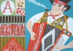 Emily Sutton's A Is For Accordion screenprint