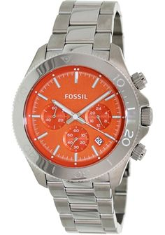 Fossil Retro Traveler Chronograph Stainless Steel Watch Ch2868 9f5db4813bd
