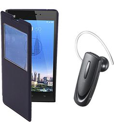 Redmi Flip cover + bluetoooth headset