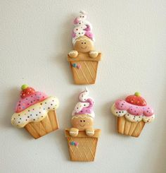 """cold porcelain  (recipe attached) gingerbreads buttons or embellishment """"inspirations""""                                                                                                                                                     More"""