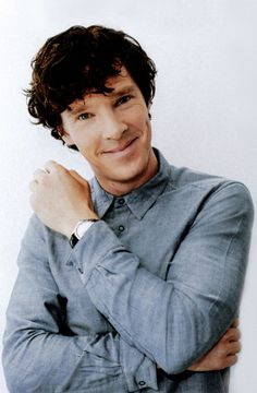 Benedict Cumberbatch: this may be my favorite photo if him.  I know there is something wrong with me because while I know how attractive the man is I'm mentally stuck on how poorly someone ironed that shirt... ~CH