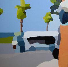 Michael Muir - 'wind won't blow'  oil on canvas  66cm x 66cm  2009