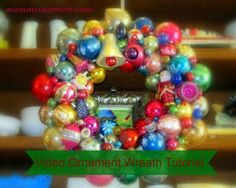 Christmas Ornament Wreath Video Tutorial