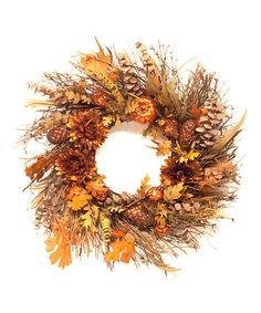 Beautiful twig wreath for fall.