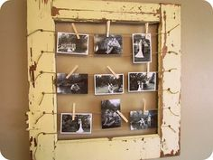 love this photo-frame idea. the more pics I can squeeze into one frame, the better!