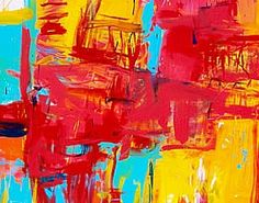 Abstract Impressionism from Timothy Sanchez - great color and energy!