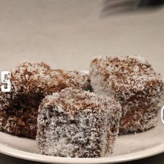 Coconut Chocolate Dessert Squares aka Scruffies (čupavci) are Balkan's answer to brownies, and are a sort of Balkan Lamingtons. Chocolate Sponge Cake, Coconut Chocolate, Chocolate Desserts, Food Cakes, Cupcake Cakes, Cupcakes, Lamington Cake Recipe, Recipe For Lamingtons, Coconut Sponge Cake