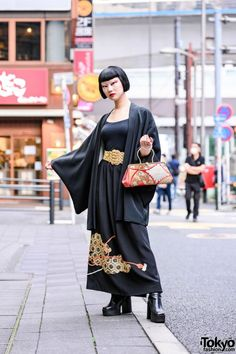 S Traditional Kimono, Japanese Makeup, Harajuku Style, Harajuku Fashion, Tokyo Fashion, Vintage Kimono, Late Summer, Platform Boots, Fashion Beauty