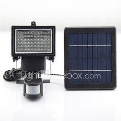 Y Solar 60 Leds Ed Led Emergency Rechargeable Lights Light Camping Pir Sensor Outdoor Lamps Sl1 17