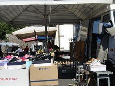Street market on Wednesday mornings in Monterosso