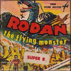 Rodan by Timothy Price Movies Box, Home Movies, Sci Fi Films, Horror Films, Movie Reels, Silent Film, Box Art, Werewolf, Macabre