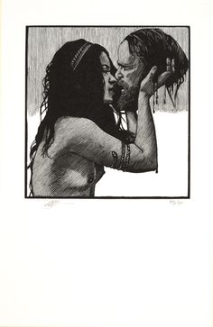 barry moser salome 2011, Illustration for Salomé: A Tragedy in One Act by Oscar Wilde, translated by Joseph Donohue (University of Virginia Press 2011)