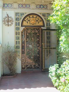 Hearst Castle--Guest House with Faces Door