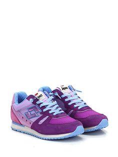 LOTTO LEGGENDA - Sneakers - Donna - Sneaker in pelle, camoscio e tessuto con suola in gomma. Tacco 25, platform 15 con battuta 10. - VIOLA - € 90.16