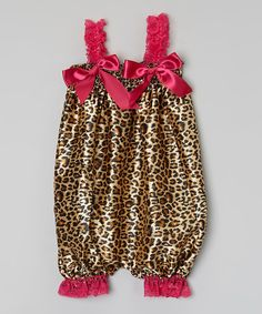Take a look at this Hot Pink & Brown Leopard Bubble Romper - Infant & Toddler today!