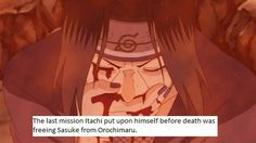 and sasuke's intention of the fight was to end his brother's life without knowing the whole story