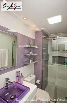 Banheiros e Lavabos Pequenos!!! Saiba como Decorar!