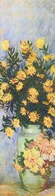 Chrysanthèmes dans un vase | Claude Monet | 1882-1885 |
