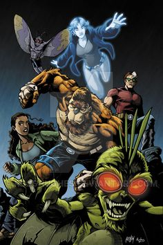 Colored this for a pin-up in a future issue of Image comics, The Perhapanauts. Lines by Eric Henson This is available as a. The Perhapanauts Dc Comics Art, Batman Comics, Image Comics, Comic Art, Comic Books, Weird World, Supernatural, Fantasy Art, Deviantart