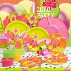 Hawaiian Luau Hula Beach Birthday Party Favors and Supplies