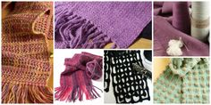 Learn how to weave a scarf with these free scarf weaving patterns.