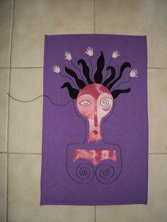 """""""Alambrada"""" (""""Mujer con alambres"""") / Art quilt   Cosa e´brujas Arte Textil"""