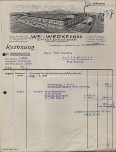 FRANKFURT/MAIN, Rechnung 1921, TORPEDO-Fahrräder & -Schreibmaschinen Weilwerke
