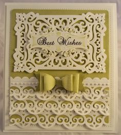 PartiCraft 7 1/2 x 8 1/2 Best Wishes, California Borders, Spanish Granada, Classic Bow, Fancy Tags 2