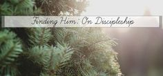 ON DISCIPLESHIP: how do you do it?