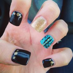 Black with gold and real design