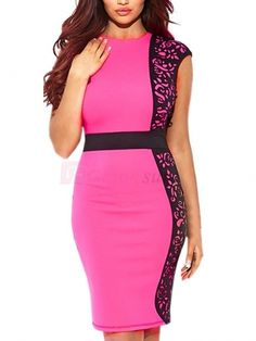 Trendy Contrast Color Floral Printed Hip Package Sleeveless Tie Waist Shaping Women's Bodycon Dress on fashionsure.com