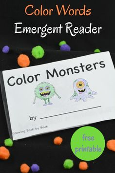 A fun and interactive free color words printable book perfect for emergent readers needing to work on color recognition. It's all done with a fun monster theme.