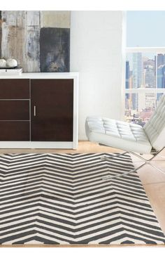 Rugs USA Homespun Chevron Charcoal Rug. Rugs USA Fall Sale up to 80% Off! Area rug, rug, carpet, design, style, home decor, interior design, pattern, trends, home, statement, fall,design, autumn, cozy, sale, discount, interiors, house, free shipping.