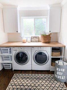 Laundry Room Baskets, Laundry Pods, Tiny Laundry Rooms, Laundry Room Remodel, Laundry Room Organization, Laundry Basket Storage, Laundry Closet, Mud Rooms, Laundry Room Bathroom