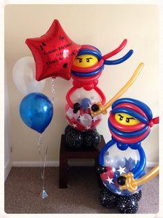 American ninja birthday balloons  created by www.balloonblooms.co.uk