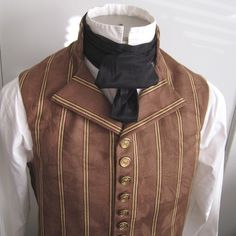 During the victorian age men wore vests and often cravats as