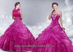 Pinkes Silhouette Sissi Kleid Wolumen Abendkleid Ballkleid Online