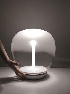 LED blown glass table lamp EMPATIA | Table lamp - @artemideworld