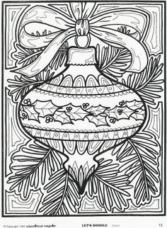 Christmas Tree Adult Coloring pages - Google Search
